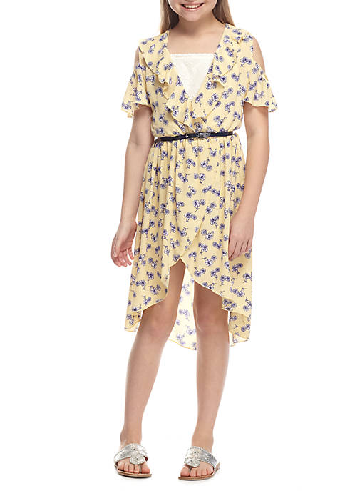Beautees Floral Wrap Dress Girls 7-16