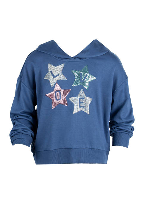 Beautees Girls 7-16 Long Sleeve Fleece Star Love