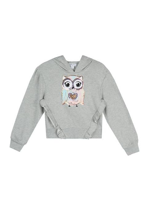 Beautees Girls 7-16 Long Sleeve Hooded Sweatshirt