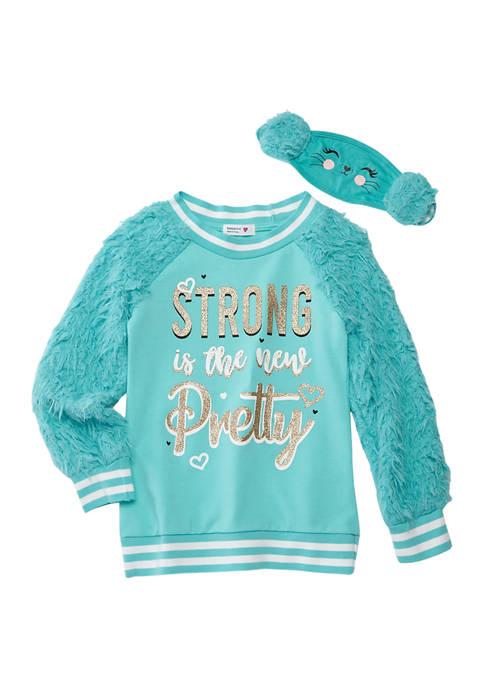 Beautees Girls 7-16 Long Sleeve Sherpa Sweatshirt with