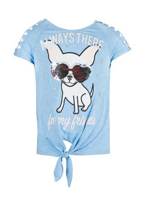 Beautees Girls 7-16 Short Sleeve Graphic T-Shirt