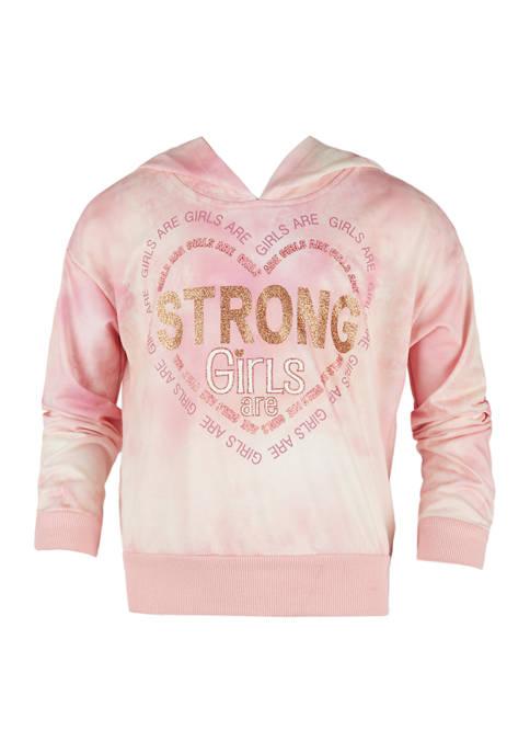 Girls 7-16 Long Sleeve Hooded Sweatshirt