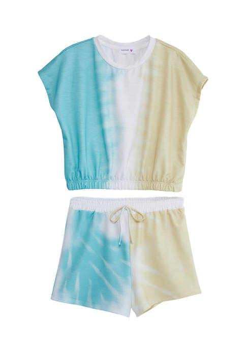 Beautees Girls 7-16 Tie Dye Top and Shorts
