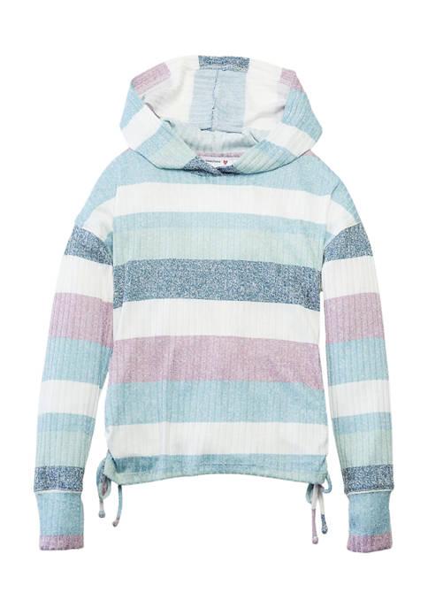 Beautees Girls 7-16 Striped Hoodie