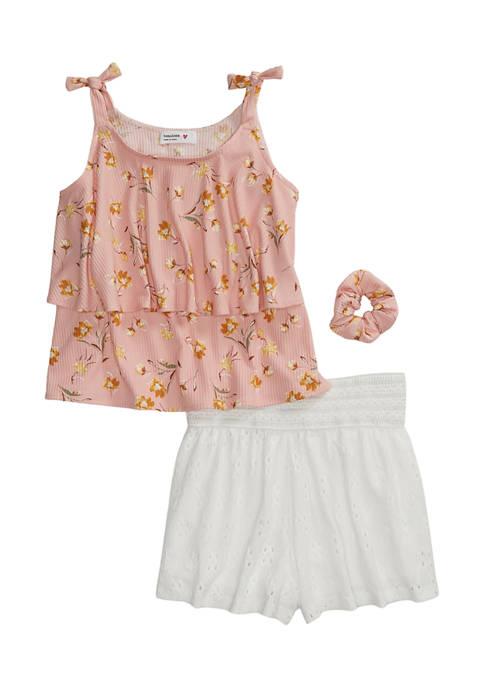 Beautees Girls 7-16 2 Piece Sleeveless Print Top