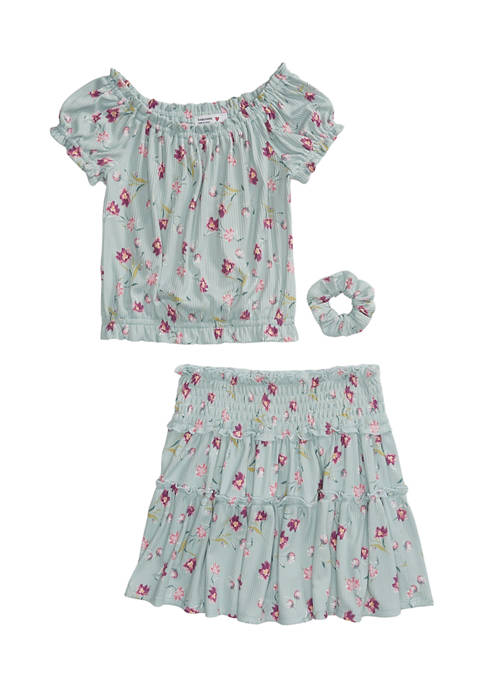 Beautees Girls 7-16 2 Piece Printed Top and