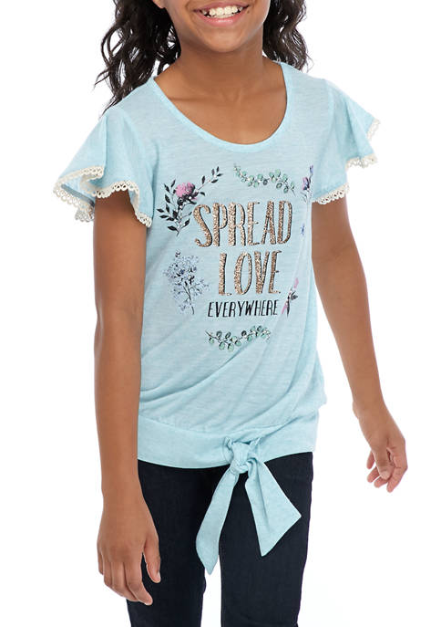 Beautees Girls 7-16 Spread Love Everywhere Graphic T-Shirt