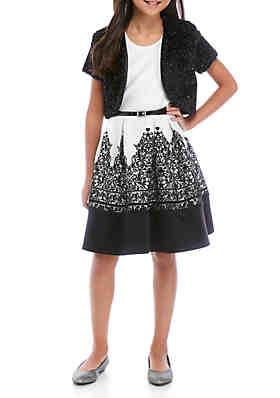 Speechless Girls Skirt Above Knee Double Ruffle