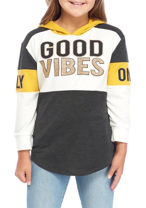 Girls 7-16 Good Vibes Hoodie