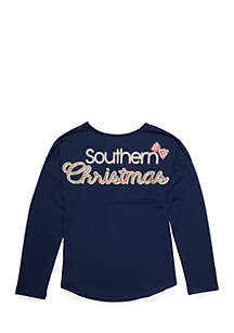 Girls 7-16 Southern Christmas Sweeper Tee
