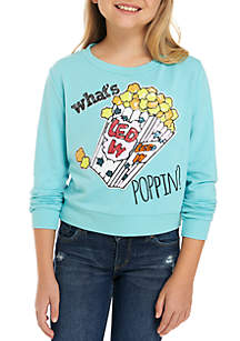 Girls 7-16 What's Poppin Sequin Top