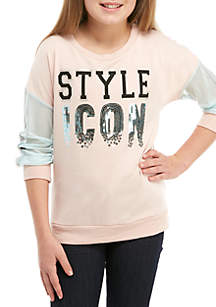 Girls 7-16 Style Icon Mesh Pullover