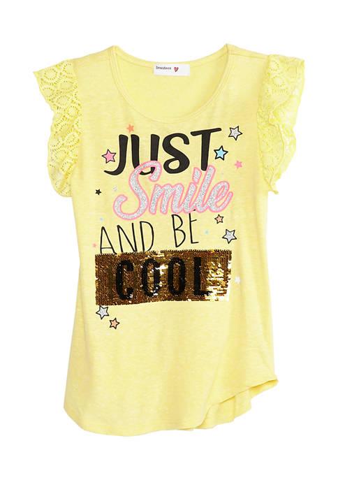 Girls 7-16 Short Sleeve Just Smile T-Shirt