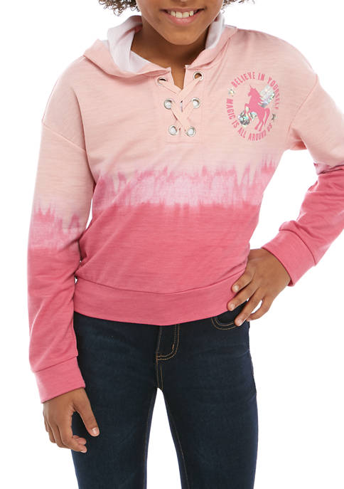 Beautees Girls 7-16 Blush 2 Rose Ombre Hood