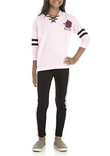 Girls 7-16 Blush Be You Athleisure Legging Set