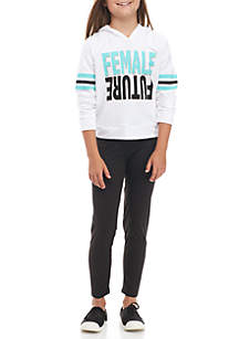 Girls 7-16 Future Female Hoodie and Legging Set