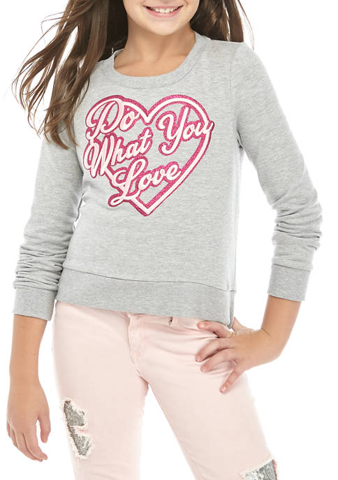 Beautees Girls 7-16 Embossed Do What You Love