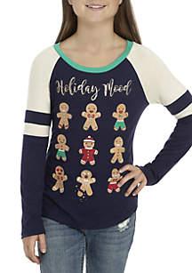 Girls 7-16 Holiday Mood Cookie Tee