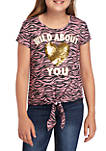 Girls 7-16 Short Sleeve Zebra Wild About You T Shirt