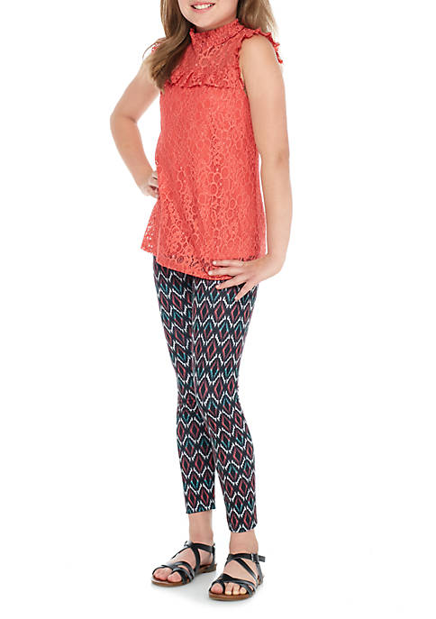 Belle du Jour Girls 7-16 Allover Lace Print