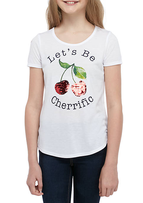 Belle du Jour Girls 7-16 Short Sleeve White