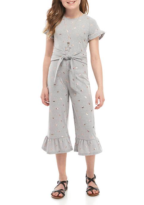 Belle du Jour Girls 7-16 Heather Gray Knit
