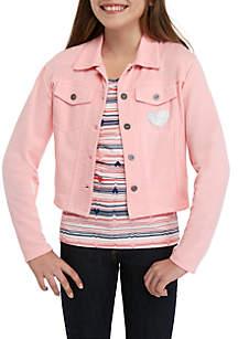Self Esteem Girls 7-16 Pink 2Fer Jacket