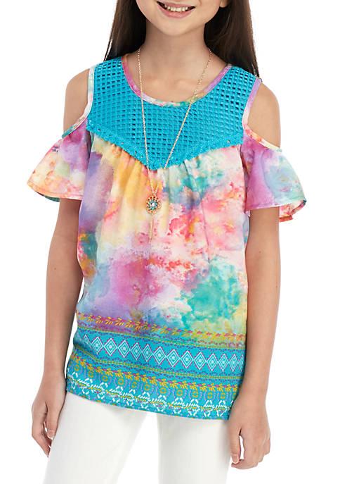 Belle du Jour Girls 7-16 Rainbow Tie Dye