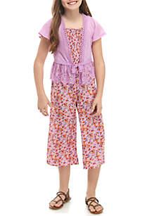 959d76dbf4ef ... Belle du Jour Girls 7-16 2 Piece Lilac Smocked Jumpsuit and Cardigan Set