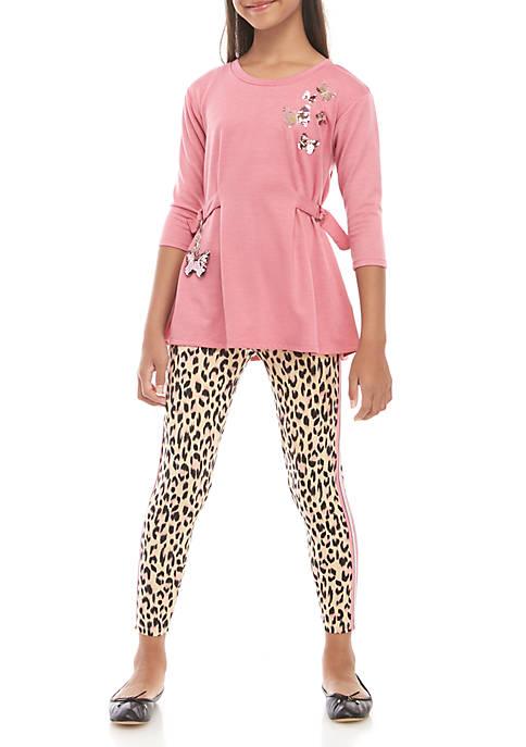 Belle du Jour Girls 7-16 3/4 Sleeve Pink
