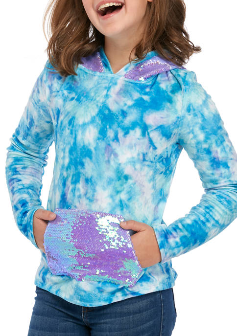 Belle du Jour Girls 7-16 Plush Hoodie with