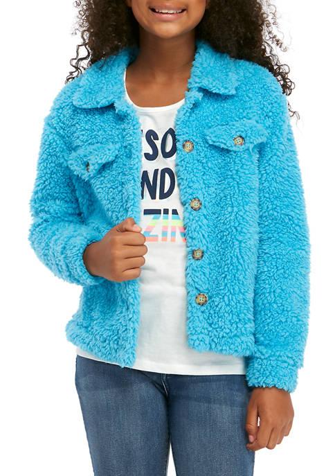 Belle du Jour Girls 7-16 Sherpa Jacket with