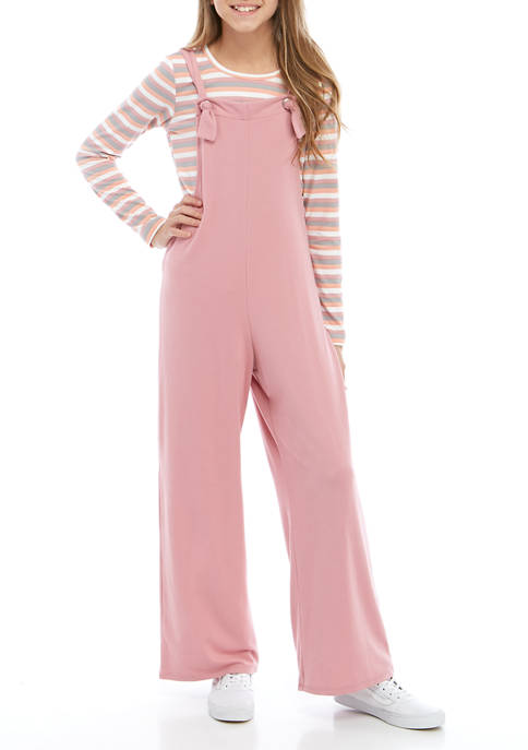 Self Esteem Girls 7-16 2 Piece Knit Jumpsuit