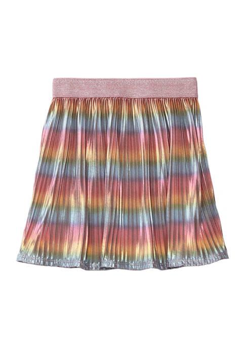 Girls 7-16 Rainbow Shimmer Skirt