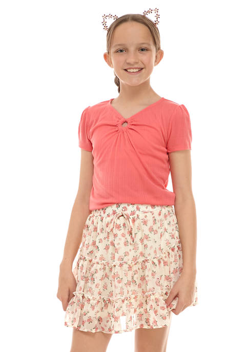 Belle du Jour Girls 7-16 Knit T-Shirt and