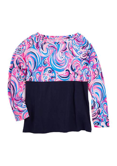 Girls 4-6x Long Sleeve Printed Top