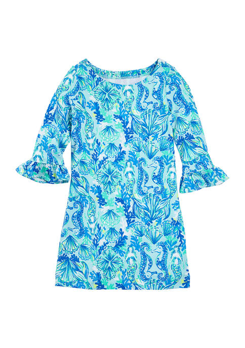 Girls 4-6x Ruffled Mini Dress