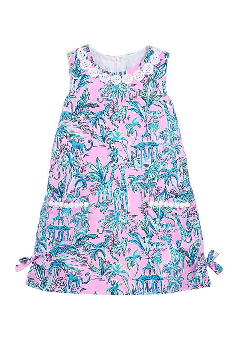 Girls 4-6x Classic Print Shift Dress
