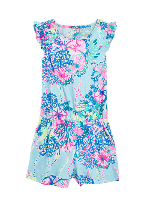 Lilly Pulitzer® Girls 4-6x Printed Romper