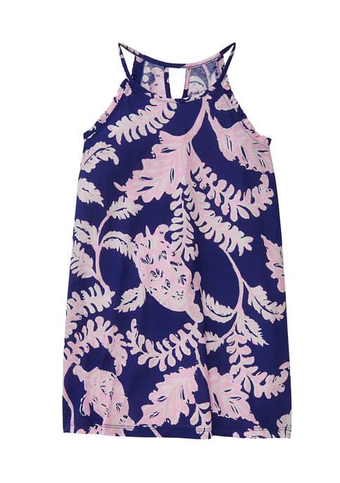 Girls 4-6x A Line Printed Dress
