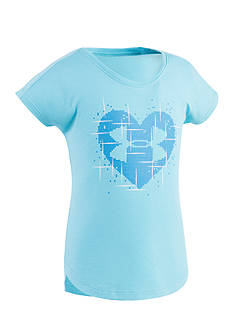 Under Armour® Heart Graphic Top Girls 4-6x