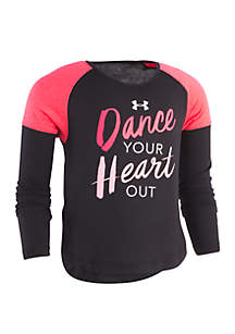 Girls 2-6x Dance Your Heart Out Long Sleeve Tee