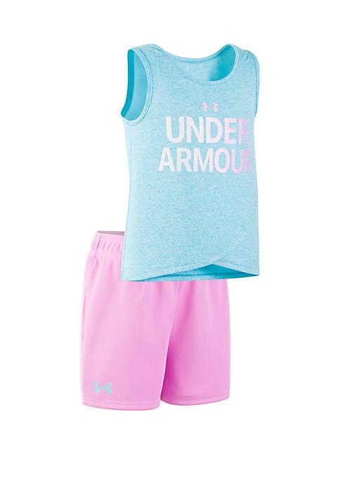Under Armour® Girls 2-6x UA Wordmark Tank Set