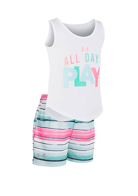 Girls 2-6 All Day I Play Tank and Shorts Set