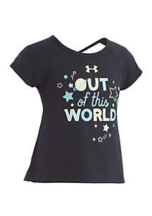 Under Armour® Girls 4-6x Out Of This World Short Sleeve Tee