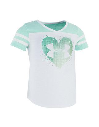 58d9fddf Under Armour®. Under Armour® Girls 4-6x Stud Heart Short Sleeve Tee