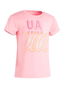Under Armour® Girls 4-6x Collage Branded Tee