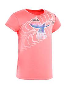 Under Armour® Girls 2-6x Grazer Big Logo Short Sleeve Tee