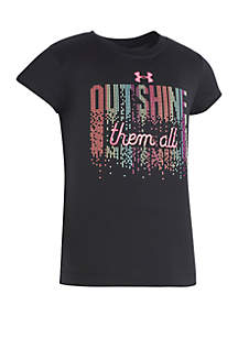 Under Armour® Girls 2-6x Outshine Them All Short Sleeve Tee