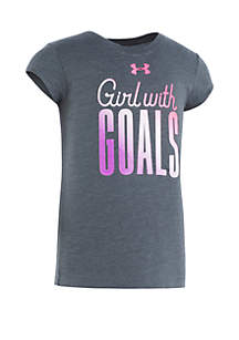 Under Armour® Girls 2-6x Girl With Goals Short Sleeve Tee